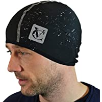 VeloChampion Thermo Tech Cycling Skull Cap – Windproof Thermal Under Helmet Hat – Stretchable Tight/Snug Fit Head Warmer – Ideal as Running Hat, Cycling Skull Cap or Sports Beanie