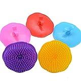 Silicon shampoo / doccia massaggio del cuoio capelluto spazzola per capelli capo Massager del corpo pettine (colore casuale)