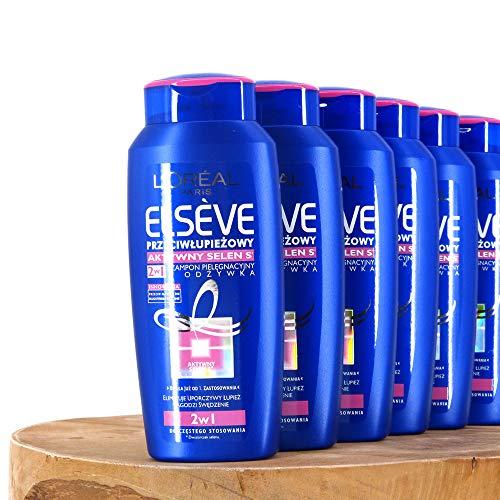 (100ml=4,58€) 6x200ml Loreal Paris Elvital Elseve 2in1 Anti-Schuppen Dandruff Selenium S Aktiv Shampoo & Spülung Conditioner + GRATIS: Reisesäckchen in Weiß oder Grau von STUDIO.MUNET -
