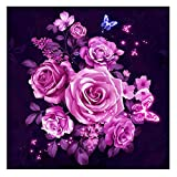 #4: DIY 5D Diamond Painting -BESTVECH Pink Flower Embroidery Cross Stitch Home Wall Decor Gift