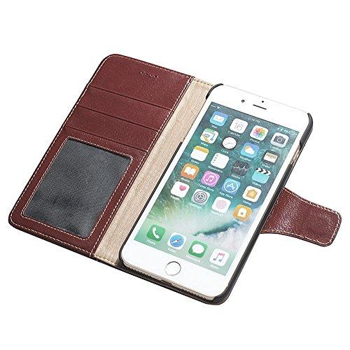 iPhone 7 Etui,EVERGREENBUYING - Coque Portefeuille Cuir avec stand IPHONE7 Premium Etui de Protection [Cadre photo] Case Cover pour iPhone 7 4.7 inch Noir Rouge