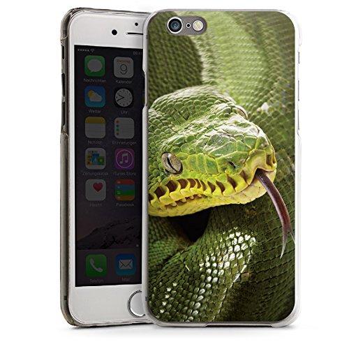 Apple iPhone 4 Housse Étui Silicone Coque Protection Couleuvre Serpent Serpent CasDur transparent