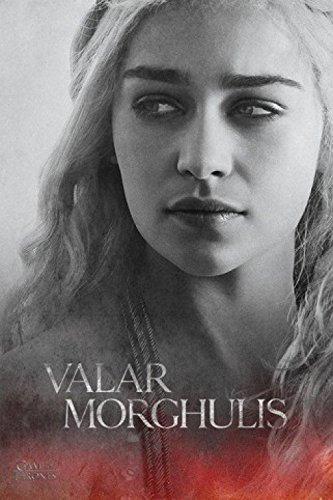 Juego-De-Tronos-Daenerys-Targaryen-Valar-Morghulis-Pster-91-x-61cm