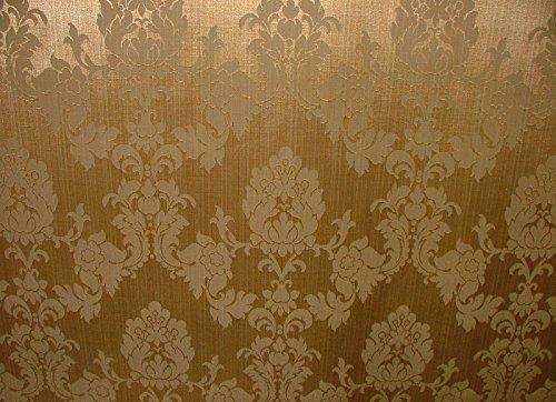 Pandoras Upholstery A4Probe Antik Gold Madagaskar Designer Vorhang Brokat Damast Möbelstoff