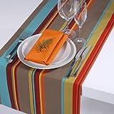 Outdoor Tischläufer Classline Multicolor Türkis wasserabweisend schmutzabweisend lichtecht Original APART Größe 45x150cm