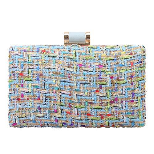 Fawziya Damen Clutch aus gewebtem Stoff für Abendtaschen und Clutches Designer -