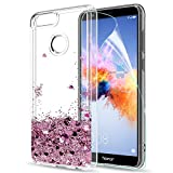 LeYi Case for Huawei Honor 7X with Screen Protector, Girl
