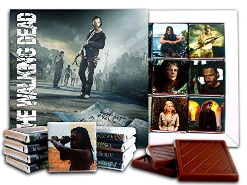 DA SCHOKOLADEN Souvenir Süßigkeiten THE WALKING DEAD Schokoladen Geschenk Set Berühmte TV Serie Design 13x13cm 1 Kasten (Straße)