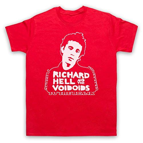 Inspiriert durch Richard Hell Blank Generation Unofficial Herren T-Shirt, Rot, 5XL (Rot T-shirt Herren Blank)