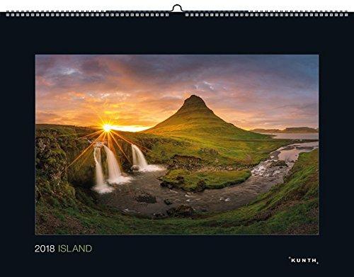 Island 2018: Kalender 2018 (KUNTH Wandkalender Black Edition)