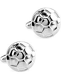 CIFIDET Todas las gemelos de fútbol de plata forman la joyería de la camisa de los