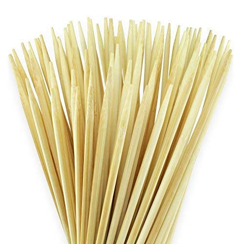 100 extralange Lagerfeuer Grillspieße 90cm x 6mm für Stockbrot, Marshmallows & Würstchen - strapazierbar & splitterfrei - aus reinem Bambus-Naturholz - auch super an...