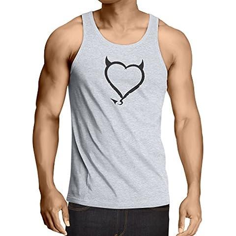 N4013V Camiseta sin mangas Devil heart Funny Gift Colors/Sizes