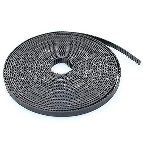 BIQU GT2–6mm Courroie de distribution ouverte en caoutchouc pour imprimante 3D, 10 Meters Timing Belt, 1