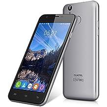 Oukitel U7 Plus - 4G Smartphone Libre Android 6.0 (Pantalla 5.5'' IPS, MT6737 Quad Core 1.3 GHz, 2GRam, 16GRom, Dual Sim, Huella Dactilar Smart Wake) (Gris)