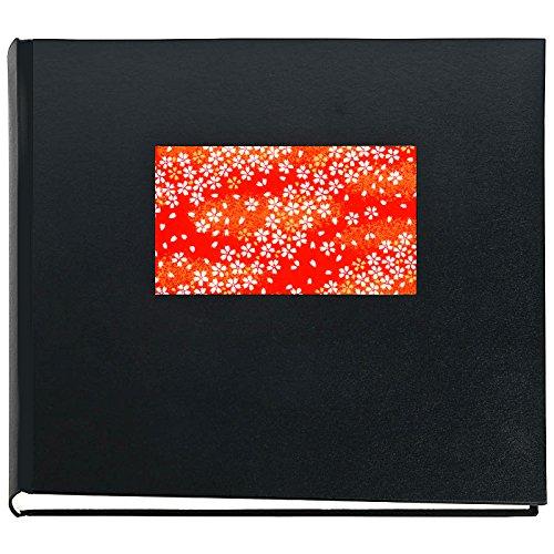 Japan Fotoalbum SAKURA Schwarz Buchalbum mit Yuzen Japanpapier Motiv japanische Kirschblüten 30 x...