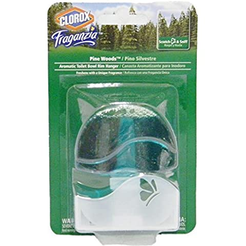 Clorox Fraganzia Pine Wood Aromatic Toilet Bowl Rim Hanger, 1.85 Ounces (Pack of 3) by Clorox