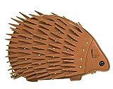Onfashion Damen Frauen Braunes Nettes Tier Geformte Schultertasche Hedgehog Mädchen Handtasche Clutch Geldbörse Brieftasche