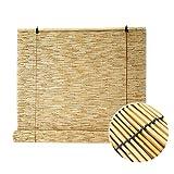 XYNH Tapparella Avvolgibile Tendina, Tenda di bambù Pieghevole,Protezione Solare, Ventilazione Estiva, Mantenere La Calma,Cortina di Bamboo A Rullo