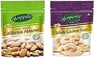 Happilo100% Natural Premium Whole Cashews, 200g and Happilo100% Natural Premium Californian Almonds, 200g
