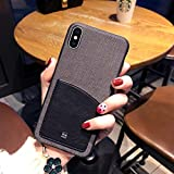 OCHENG Coque Mobile iPhone XS Max Coque IPhoneX Simple Coque de Protection Anti-Chute IPhoneXS pour Entreprise (Couleur : Bleu, Taille : iPhone XS)