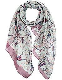 dcbde496e5 Ladies Women s Fashion Butterfly Print Long Scarves Floral Neck Scarf Shawl  Wrap by DiaryLook