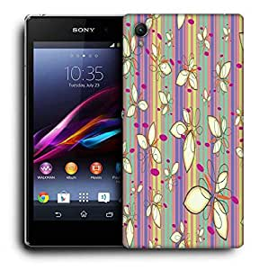 Snoogg Cream Petals Printed Protective Phone Back Case Cover For Sony Xperia Z5