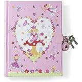 Lucy Locket- Diario secreto para niñas rosa diseño de hadas con candado.