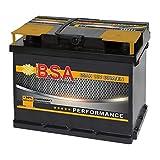 BSA Autobatterie 12V 65AH 600A/EN ersetzt 60Ah 61Ah 62Ah 63Ah 64Ah