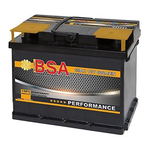 Preisvergleich Produktbild BSA Autobatterie 12V 65AH 600A / EN ersetzt 60Ah 61Ah 62Ah 63Ah 64Ah