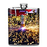 Edelstahlflaschen 7 Unzen Cnc-Laser-Plasmaschneiden von Metall-moderne Whiskyflaschen-Hüftflaschen Leak Proof Wine Men Women