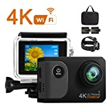 Ccbetter Action Kamera,WIFI Action Cam 4K Sports Cam 20MP Kamera Ultra Full HD Unterwasserkamera Helmkamera...