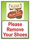 #2: The Kitabwala Sign Please Remove Your Shoes Poster Sign (9