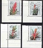 Briefmarken DDR 1988, Mi.Nr. 3149-3152 DV mit Druckvermerk, Bromelien, Postfrisch