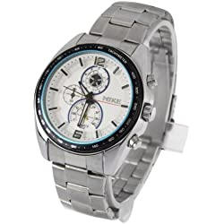 1 ATM Water Resistant Waterproof Uhr Quarz mit Stainless Steel Back Cover
