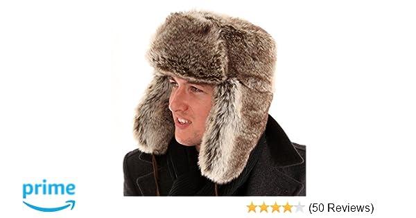 dec75fffefaea fur trapper hat Adult Unisex Fake Warm   snuggly  Amazon.co.uk  Clothing