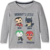 NAME IT Baby-Jungen Langarmshirt Nitbatman Rick LS Top M Mini Wab, Grau (Grey Melange), 98