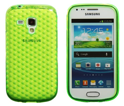 Luxburg® Diamond Design Schutzhülle für Samsung Galaxy S Duos GT-S7562 in Farbe Smaragd Grün, Hülle Case aus TPU Silikon