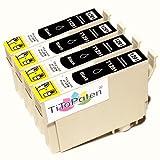 *TITOPATEN* 4x Epson Stylus Office BX 320 FW Plus kompatible XL Druckerpatrone ersetzt Typ T1291-1294 - Schwarz - Patrone MIT CHIP !!!