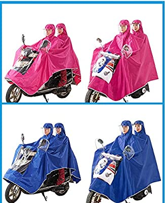 XIAOCHUIYY Double-Sided Hood To Increase Thickening Motorcycle Electric Raincoat Single Men And Women Rain Poncho Helmet Type by XIAOCHUIYY