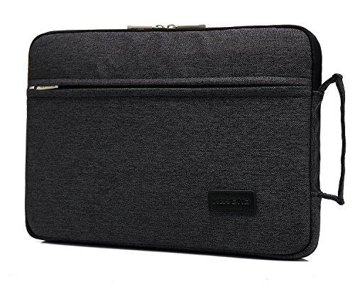 KAYOND 13-13,3 Zoll Laptop Sleeve Hülle Case aus Nylon Wasserdicht Laptophülle für MacBook Pro Retina/MacBook Air/Surface Pro6 / Surface Pro 2017/4 /3 (Schwarz, 13-13,3 Zoll)