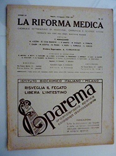 la-riforma-medica-giornale-settimanale-di-medicina-chirurgia-e-scienze-affini-anno-lii-napoli-15-ago