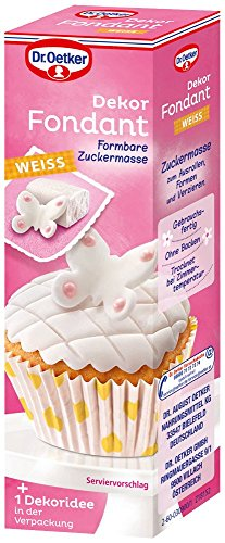 Dr. Oetker Dekor Fondant Weiß, 10er Pack (10 x 100 g) (Kuchen Streusel-schmetterling)