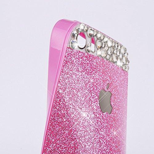 Pour Coque iPhone 6 Plus/6s Plus , iNenk® Mou TPU cas Paillettes paillettes Téléphone Mobile ensembles Silicone téléphone Shell luxe diamant couvercle manchon protection pour les femmes-rose Rose