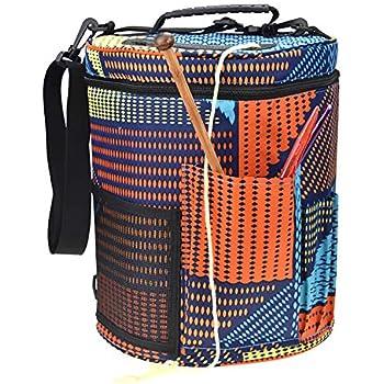 Polyester Garn Aufbewahrungstasche Strick Tote Case Crochet Tool Organizer