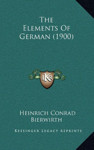 The Elements of German (1900)