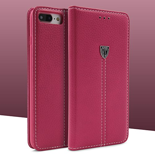 iPhone 7 Plus / 8+ Hülle, Urcover® robustes Schutz Cover mit [ KARTENFACH & STAND-FUNKTION ] Noble Series Wallet Handyhülle Etui Schutzhülle Flip Case für Apple iPhone 7 Plus / 8+ Farbe: Rose Gold Pink