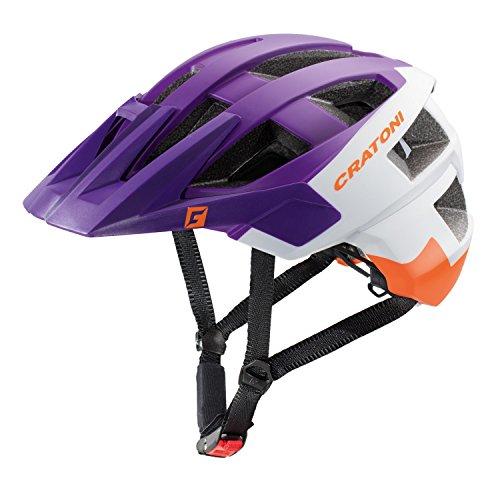 Fahrradhelm Mountainbike Helm Cratoni AllSet (violet-white-orange matt, 58-61)