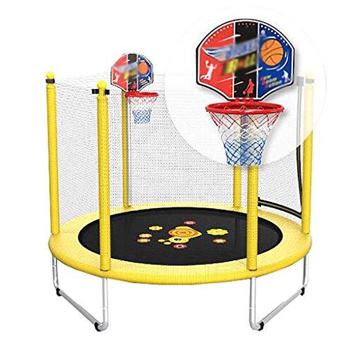Trampolin Rundes Kinder SchöNes Schneckentrampolin Mit Basketballkorb-60