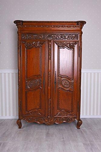 Unbekannt Kleiderschrank Antik Schrank Massivholz Dielenschrank Mahagoni Wäscheschrank Palazzo Exklusiv - Mahagoni Schrank